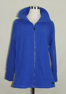 Calvin Klein Performance Fleece Solid Royal Blue Full Zip Security Pocket Dry 0X