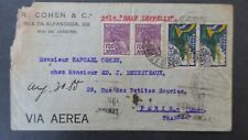 Brazil Letter Graf Zeppelin for Paris 1935, Cover Zeppelin Brasil to France
