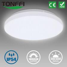 LED Deckenleuchte Bad rund Badezimmer-Lampe flach IP54 Schlafzimmer Küche Flur