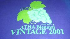 Vintage 2001 Santa Rosa Ca Atha T-Shirt Men's Size Xxlarge Purple