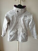 North Face Hyvent White Purple Snow Ski Jacket Size Girls M Removable Fleece