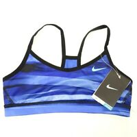 New Nike Girls Victory Reversible Stay Cool Lt Support Sports Purple Bra Sz S