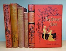 5 x Rare Decorative Antique Books FIRST EDITION Dickens Walter Crane STEVENSON