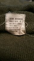 1972 dated Vietnam Era US Army Issue Scarve Scarf Neckwear 100% Wool OG-208