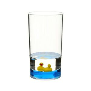 Acrylic Floating Ducks Design Bathroom Toothpaste Toothbrush Holder Cup Tumbler