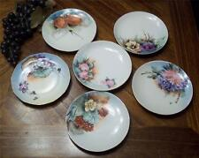 6 Different Antique Handpainted Plates - Germany/Bavaria/Czechoslovakia - L@@K