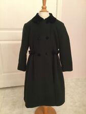 Rothschild Navy Wool Coat w/ Velvet Collar Fully Lined Girl's Size 5 USA