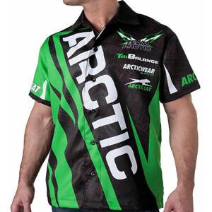 Arctic Cat Men's Team Arctic Race Pit Shirt - Lime Green / Black - 5253-04_