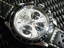 Alpha Daytona Silver Dial Black Insert 3-Registered Chronograph Watch