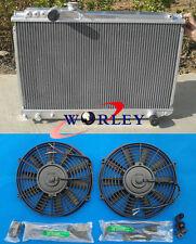 1986-1992 Toyota SUPRA 3.0 Turbo MK3 SOARER 7MGTE MT aluminum radiator & FANS