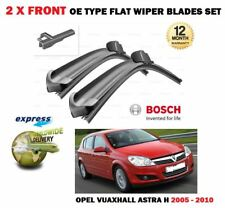 FOR OPEL VAUXHALL ASTRA H 2005-2010 NEW 2 X FRONT FLAT WIPER BLADES SET BOSCH