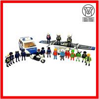 Playmobil Police Bundle Joblot Plane Car Bike Figures Accesorize Geobra Playset