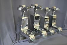 MATCHING CHROME  BATH & BASIN TAPS ART DECO ANTIQUE STUNNING RECLAIMED REFURBED