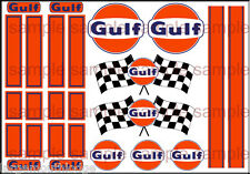 NEW PEEL AND STICK 1:64 SCALE HOT WHEELS RACING STRIPES GULF RACING DECALS