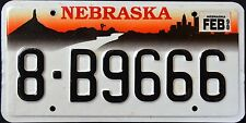 "NEBRASKA "" CHIMNEY ROCK - CITY SKYLINE "" 1998 NE Vintage Classic License Plate"