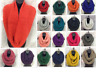 Women fashion knitted bulky infinity Circle Cable loop scarf Shawl Wrap HOT Warm