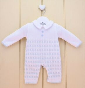 Pex Digby Spanish Knit baby boys Romper - pure cotton