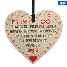 My Soulmate Sign Best Friend Plaque Gift Wood Hanging Heart Love Valentines H06