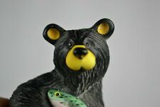 Big Sky Carvers Bearfoots figurine named Fuzz Limited Ed with fish