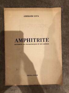 Livres anciens rares - Gherasim Luca - AMPHITHRITE