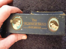 Used Vintage Old M Hohner harmonica Germany 1930s ? The Band Key G