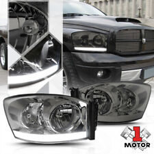 Smoke Tinted Headlight LED DRL Clear Signal for 06-09 Dodge Ram 1500/2500/3500