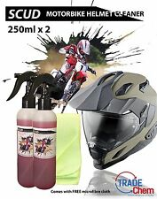 SCUD - 250ml x 2 Motor Bike Helmet Cleaner / Degreaser + FREE Microfiber Cloth