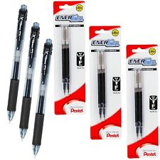 Pentel EnerGel X BLN105 0.5mm Black Liquid Gel Ink Rollerball Pen with Refills