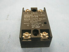Omron Model: G3N-210B Solid State Relay.  10A, 250VAC.  Input: 75 - 125VAC  <
