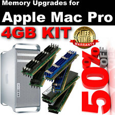 4 GB (4 X 1gb) Ddr2 800 Mhz Pc2-6400 240 pines con ECC FBDIMM Mac Pro Early 2008 Ram Kit
