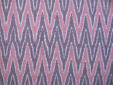 Hand-Woven Ikat Fabric Hand-Dyed Burgundy, Rose Andhra India Artisan Cotton