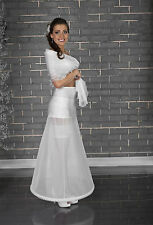 Womens Wedding Bridal White Ivory Petticoat Underskirt Dress Crinoline Skirt UK