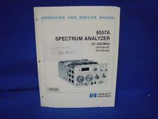 HP 8557A SPECTRUM ANALYZER OPERATION & SERVICE MANUAL