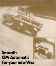 Vauxhall Viva HC Automatic 1970-71 UK Market Foldout Sales Brochure 90 1600