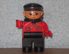 Lego Duplo Eisenbahn Lok Figur: Intelli Lokführer rot aus 3325 & 3335