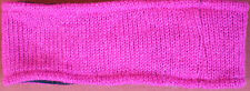 Hand Crocheted 100% Wool w/ Fleece Lining Headband Adult Size PINK