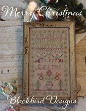 Merry Christmas - Sampler - Blackbird Designs - New Cross Stitch Chart