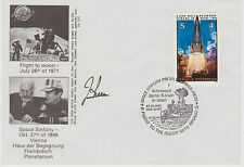 SIGNED ASTRONAUT JAMES IRWIN APOLLO 15 MOONWALKER GERMAN FDC FIRST DAY COVER