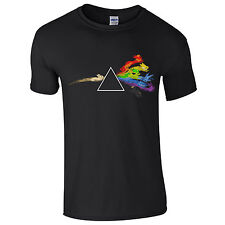 Dark Side of the Eevees T-Shirt Evolution Pink Floyd Moon Pokemon Rainbow Prism