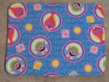 FLEECE STANDARD (TWIN) PILLOW COVER- CHARACTERS FROM TROLLS & CUPCAKES - BLUE