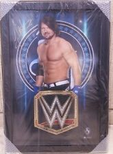AJ Styles WrestleMania 33 Exclusive Limited Edition Framed Autograph & Title BIG