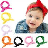 8X Kids Girl Baby Headband Toddler Bowknot Elastic Hair Band Headwear Accessory