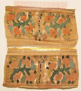 Antique Embroidered Turkish Yaglik Towel Fragments Museum Quality Study Piece