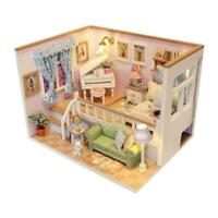 3D Wooden Craft Doll House Furniture DIY Miniature Dust Cover Dollhouse Toy R1BO