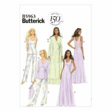 Butterick Sewing Pattern B5963 Misses' Robe, Top, Gown, Pants and Bag