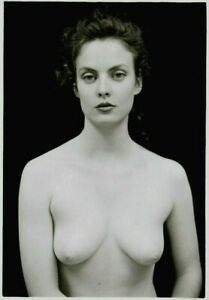 "NUDE FEMALE PHOTO 5X7"" VINTAGE DARKROOM PRINT SIGNED ORIG"