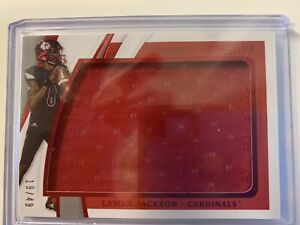LAMAR JACKSON 2021 Immaculate Collegiate Red Foil Jumbo Prime Patch SSP /49 BOOM