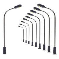 LQS05 10pcs Model Railway One-light LED Lamp N Z Scale Street Light 4.2cm