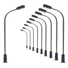 LQS05 10pcs Model Railway Train Lamp Post Street Light N Z Scale LEDs NEW