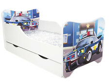Children Bed Police, Junior Bed with mattress 140x70cm + drawer